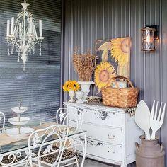Carey 🌸🌿🌸 (@careyscountrygarden) • Instagram photos and videos Sunflowers, Outdoor Tables, Porch, Furniture, Dining, Instagram, Videos, Photos, Home Decor