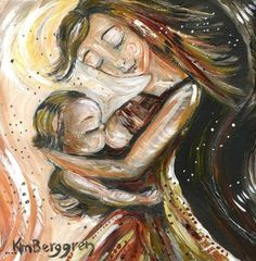 mother and child breastfeeding dancing print - Music To Dance To - archival signed 8x10 motherhood print on Etsy, $21.08 AUD