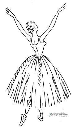 Vintage Ballerina Embroidery Transfer   More on my blog   Rachel   Flickr