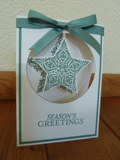 Bright & Beautiful stars and framelits Stampin Up