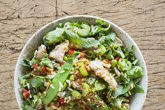 Brown rice, chicken, edamame and snow pea salad – Recipes – Bite
