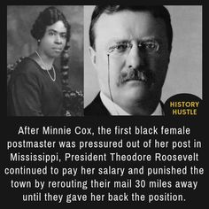 Theodore Roosevelt and Minnie Cox - 10 Unbelievable History Facts You Really Need to See american history 10 Unbelievable History Facts You Really Need to See Black History Facts, Black History Month, History Weird, Random History Facts, World History Facts, Random Facts, French History, Tudor History, Modern History