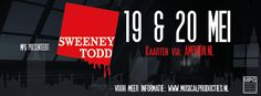 Banner Sweeney Todd by MPG ©Only-Me Vormgeving/Elserieke Dales Sweeney Todd, Atari Logo, Musicals, Banner, Logos, Movie Posters, Life, Banner Stands, Logo