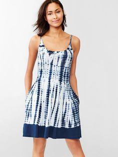 Easy, breezy for summer. Tie-dye cami dress