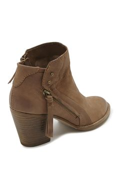 """Featuring the softest of leathers and a size-zip closure, the Jessie Boot is that comfy and chic combo you've been looking for. Dimensions: Heel measures 3"""" in height. Details: Leather. Dolce Vita was"""