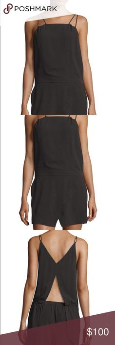 Halston Heritage Black Romper Halston Heritage black romper / jumpsuit. Worn once, excellent condition, super cute and flattering! Comment with any questions :) Halston Heritage Pants Jumpsuits & Rompers