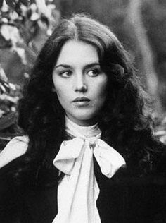 Isabelle Adjani.  Blouse with bow.