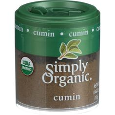 Simply Organic Cumin Seed - Organic - Ground - .46 oz - Case of 6