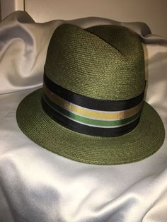 Vintage Resistol Fedora Hat Byer Rolnick Self Conforming 1950 s size 7   fashion  clothing   1e691a6f6577