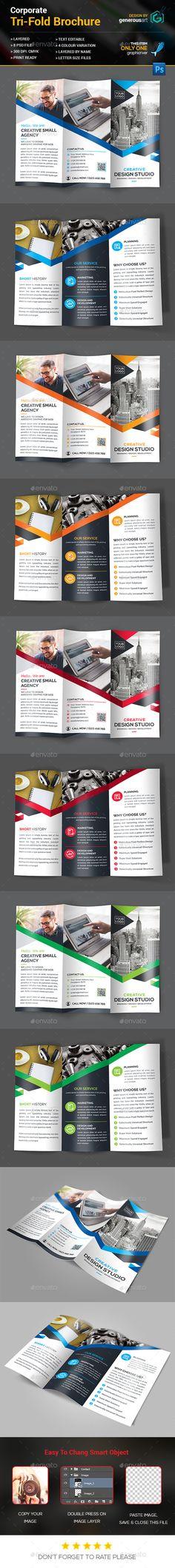 Tri-Fold Brochure Template PSD. Download here: http://graphicriver.net/item/trifold-brochure/14836566?ref=ksioks