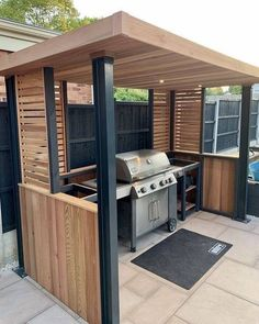 Outdoor Bbq Kitchen, Backyard Kitchen, Outdoor Kitchen Design, Outdoor Patio Decorating, Outdoor Grill Station, Outdoor Grill Area, Patio Grill, Outdoor Bars, Backyard Patio Designs