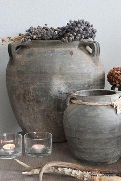 Shabby chic home accessories Rustic Charm, Rustic Style, Rustic Decor, Wabi Sabi, Casa Magnolia, Olive Jar, Vibeke Design, Keramik Vase, Home And Deco