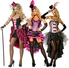 High Low Silhouettes in Halloween Costumes - These costumes for showgirls and burlesque dancers are right on trend-target this year!