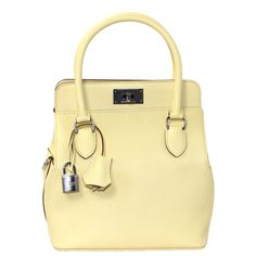 ad307a7e3e Hermes 20 cm Tool Box Tote in Yellow Swift Leather with Palladium