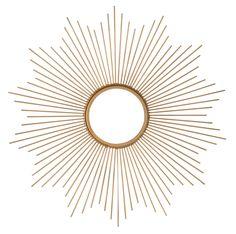Spiegel BREE, Rahmen Metall,goldfarben