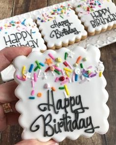 Birthday cookies cuts for thin hair 2016 - Thin Hair Cuts Happy Birthday Cookie, Birthday Cookies, Graduation Cookies, Valentine Cookies, Easter Cookies, Christmas Cookies, Happy Birthday Nephew, Confetti Cookies, Birthday Treats