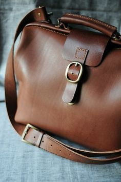 Nice leather travel bag