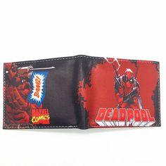 New Arrival Wallet Deadpool /Iron Man/The Joker /Star Wars Bifold Men Wallets With Zipper Poucht Coin Pocket Purse Billeteras