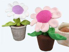 Topfpflanze - Blume - Häkelmuster