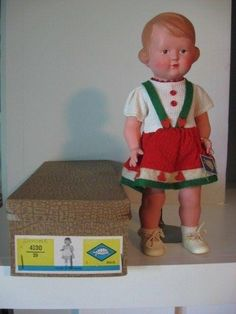 VINTAGE GERMAN SCHILDKROTE CELLULOID DOLL MINT IN BOX. | #1758977465