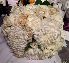 My white wedding bridal bouquet