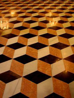 Suelo en la Lonja de la Seda (Floor of the  Silk Exchange, part of the Old Silk Route) Valencia, Spain