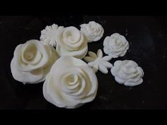 وردة من الشيكولاتة البيضاء | سالي فؤاد - YouTube