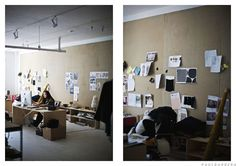 mega-sized inspiration board. swoon....  creatures of comfort nyc office via wheretheycreate