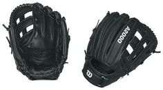 """Wilson Prostock A2000 INF 11.75-Inch SuperSkin Infielder's Fastpitch Glove (Right Hand Throw) by Wilson. $219.95. The Wilson WTA2000F ZINF-SS is a black 11.75"""" Dual Post Web infielder's glove for a right handed player"""