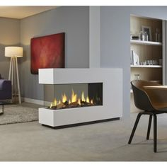 DRU - Metro Eco Wave De ultieme driezijdige gashaard als roomdivider. Ethanol Fireplace, Home Fireplace, Modern Fireplace, Fireplace Design, Gas Fireplaces, Fireplace Glass, Portable Room Dividers, Sliding Room Dividers, Contemporary Gas Fires