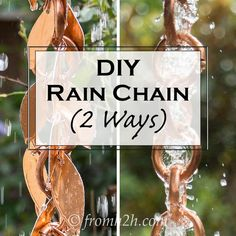 Want to make your own rain chain but not sure how? Click here to find step-by-step instructions for a DIY Rain Chain, with 2 different style…