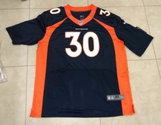 bac8d0509 Broncos Phillip Lindsay navy jersey 48 XL sz mens  fashion  clothing  shoes
