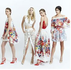 Mode Trends 2015 - Weiß, kombiniert mit Rot und bunten floralen Motiven