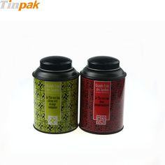 Customized printed round tea tin packagings. http://www.tinpak.us/Products/RoundStackableTeaTins.html