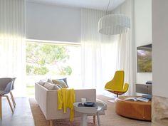 Luigi Rosselli Architects   Hill Top Cottage   full length sheer curtains light filled living room   © Justin Alexander