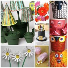 Fantastic Paper Cup Crafts - who knew that you could make so many different and cool things from the humble paper cup. Particularly LOVE the paper cup flowers.