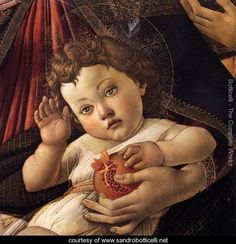 Madonna of the Pomegranate (detail) c. 1487 - Sandro Botticelli