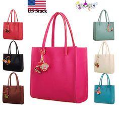 612e084b6fa  7.43 - Women Fashion Large Handbags Leather Shoulder Bag Candy Color  Flowers Totes Us  ebay  Fashion