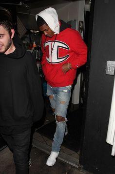 Jordan Clarkson wearing Fear of God Selvedge Denim Vintage Indigo Jeans 8703c2d64