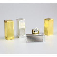 ==> [Free Shipping] Buy Best free shipping 12.1mm square golden/silver striated high-grade lipstick tube cuboid empty Lip balm container Online with LOWEST Price   32792860751