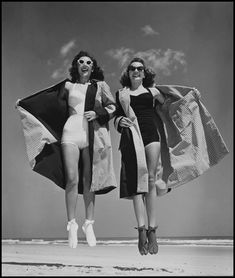 """LIFE Swimsuits From """"Philippe Halsman's Jump Book"""" (1959) — reissued by Abrams (1986).  ."""