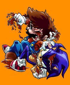 Mario VS Sonic - Quand Mario pète les plombs contre les autres jeux vidéos.