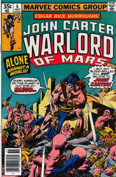 John Carter Warlord of Mars #6 comic. Gil Kane artwork.