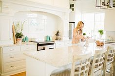 #kitchen, #neutral, #white  Styled by Terrie Day Allure with Decor - www.allurewithdecor.com   Read More: http://www.stylemepretty.com/living/2014/07/14/parisian-chic-kitchen-tour/