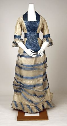 Dress Date: 1880 Culture: Swiss Medium: silk, pineapple fiber Metropolitan Museum of Art Accession Number: C.I.55.40.5