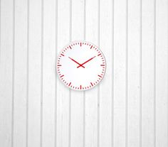 Kikkerland Swiss Station Ultra Flat Wall Clock - There's no need for numbers.