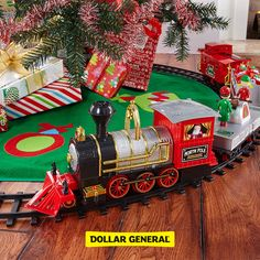 Find toy trains, tree skirts and more at your local Dollar General.