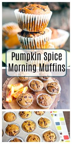 Pumpkin Spice Morning Muffins that are sweet, soft, gluten free and bakery style. Your kids will love these delicious muffins for breakfast! Make Ahead Meals, Freezer Meals, Bakery Muffins, Pumpkin Chocolate Chip Muffins, Pumpkin Spice Muffins, Super Healthy Kids, Gluten Free Bakery, Clean Eating Desserts, Healthy Muffins