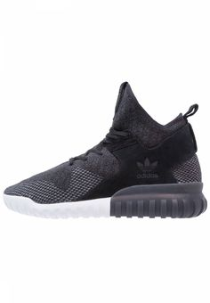 adidas Originals. TUBULAR X - High-top trainers - core black/dark grey/solid grey. Pattern:marl. Sole:synthetics. Shoe tip:round. Padding type:Cold padding. Heel type:flat. Lining:textile. shoe fastener:laces. upper material:leather and textile. Insole:textile