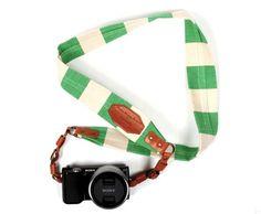 striped camera strap
